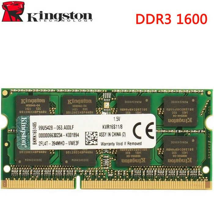 Kingston Technology 8GB 1600 MHz DDR3L muisti Intel laptop - green