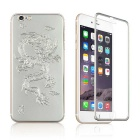 3D Dragon Pattern Tempered Glass Screen Protector + Back Guard Set for IPHONE 6 PLUS - Silver