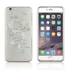 Dragon Pattern Glass Front + Back Film for IPHONE 6 PLUS - Silver