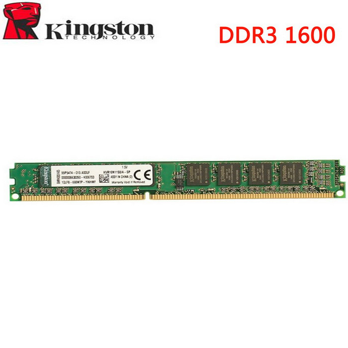Kingston valueram 8GB 1600MHz DDR3 memoria de la placa base - verde