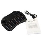 2.4GHz Mini Wireless 83-Key Keyboard Air Mouse w/ Touchpad - Black