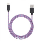 Yellowknife MFi 8Pin Lightning to USB Braided Cable for IPHONE 6 / 6S PLUS / IPAD - Multicolor (1m)