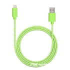 Yellowknife MFi 8Pin Lightning to USB Braided Cable for IPHONE 6 / 6S PLUS / IPAD - Green (1m)