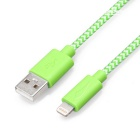 Yellowknife mfi 8Pin relámpago a cable USB para IPHONE 6 - verde (1m)