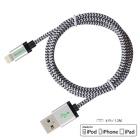 CARVE 8Pin Lightning to USB Charging Cable - Silver (3PCS, 1.2m)