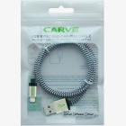 CARVE 8Pin Lightning to USB Charging Cable - Golden (3PCS, 1.2m)
