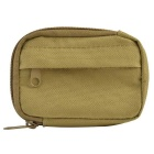 800D Nylon Water Resistant Mini Outdoor Accessories Bag / Carry-on Change Wallet - Khaki