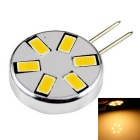 G4 3W LED Circular Corn Lamp Warm White Light 240lm 3000K 6-SMD 5730 - Silver + Black (12V)