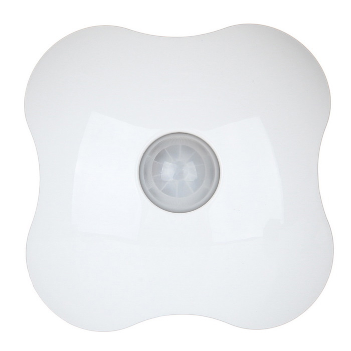 Four Leaf Clover Style White LED Human Body Sensor Control Night Light