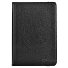 Cwxuan Lichee Pattern 360' Rotary PU Leather Case w/ Stand / Auto Sleep for IPAD MINI 4 - Black