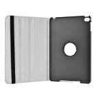 Cwxuan Lichee Pattern Rotary PU Leather Case for IPAD MINI 4 - White