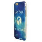 Earphone Pattern Protective TPU Case for IPHONE 6S - Blue + White