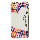 Colorful Pan Pattern TPU Case for IPHONE 6S - White + Pink