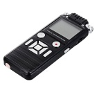 Noise Cancelling Mini VOR Voice Recorder w/ MP3 Player - Black (8GB)