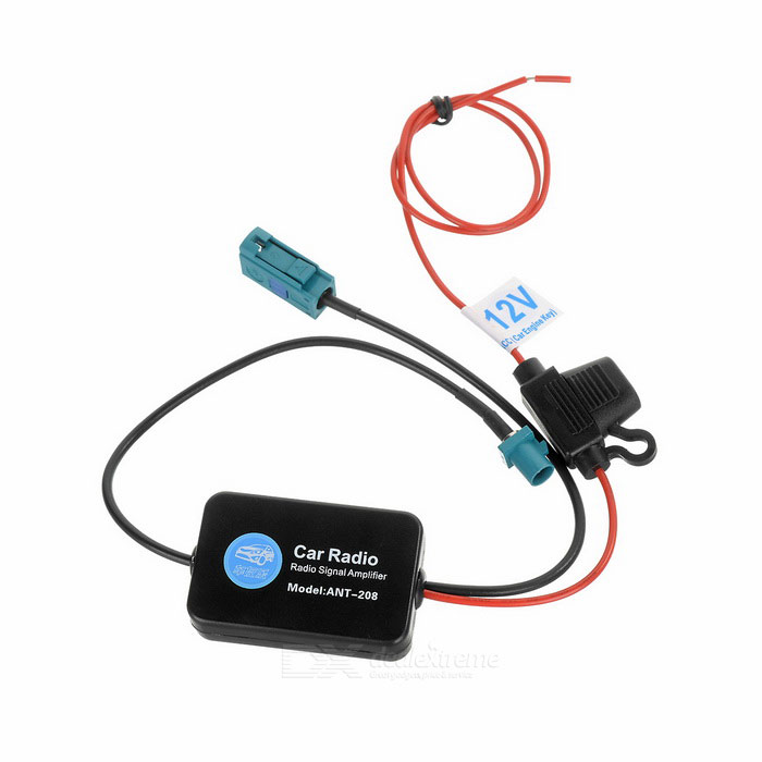 2W 75ohm Car Radio Signal Amplifier for VW - BlackCar Antennas<br>Form  ColorBlackModelN/AQuantity1 DX.PCM.Model.AttributeModel.UnitMaterialABSCompatible MakeVWCompatible Car ModelVWFrequency Range86~108MHzGain25 DX.PCM.Model.AttributeModel.UnitImpedance75 DX.PCM.Model.AttributeModel.UnitPower2 DX.PCM.Model.AttributeModel.UnitConnector TypeOthers,VW connectorCable Length50 DX.PCM.Model.AttributeModel.UnitWorking Temperature-50~60 DX.PCM.Model.AttributeModel.UnitPower Supply12VPacking List1 x Signal amplifier (50+/-2cm, 18+/-2cm)1 x Cable clip1 x Adhesive tape2 x Magnetic rings<br>