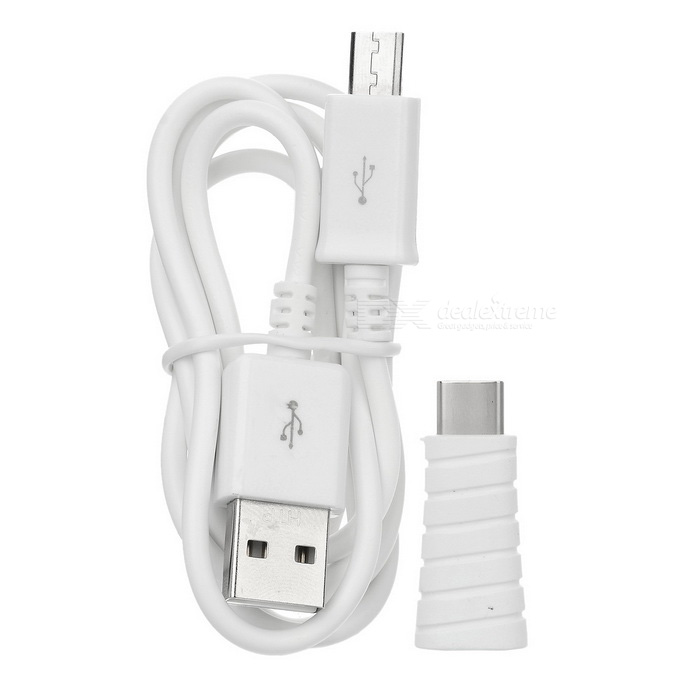 USB 3.1 Type C M to Micro USB F Adapter + Micro USB Cable Set - White