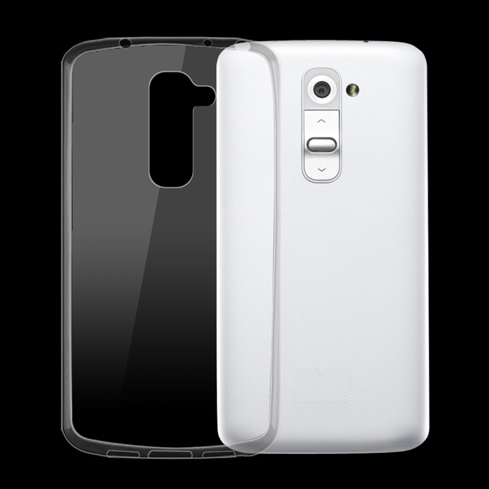 Ultra-Thin Protective TPU Back Cover Case for LG G2 Mini - Transparent