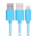 Yellowknife MFi 8pin Lightning to USB Cable for IPHONE 6 - Blue (1m)