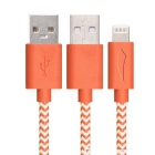 Yellowknife mfi 8pin relámpago al cable del USB para IPHONE 6 - anaranjado (1m)