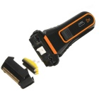 Men's Dual Cutter Razor Blade Electric Shaver - Black + Golden