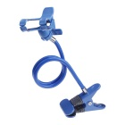 Universal 360-Degree Rotation Flexible Neck Desk / Bedside Handsfree Clip Holder for Phone - Blue