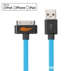 Yellowknife MFi Certified USB to 30-Pin Data Sync & Charging Cable for IPHONE / IPAD / IPOD - Blue