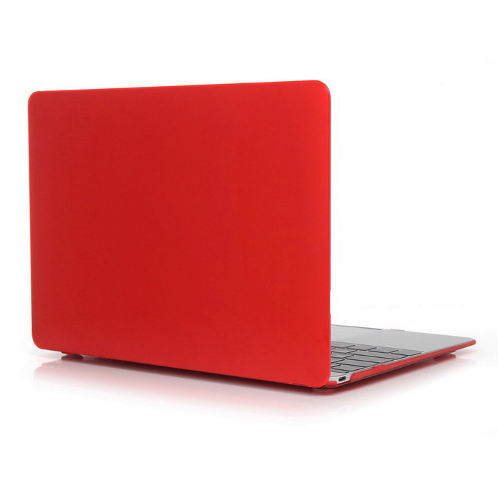 "ASLING funda protectora para PC para MACBOOK 12"" - transparente rojo"