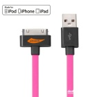 Yellowknife MFi USB to 30-Pin Data Sync & Charging Cable for IPHONE / IPAD / IPOD - Deep Pink