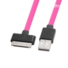 Yellowknife MFi USB to 30Pin Data Charging Cable for IPHONE -Deep Pink