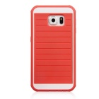 B.O.W HS006 Water-Resistant Anti-Dust Silicone Back Case for Samsung Galaxy S6 - Orange + White