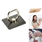 Finger Ring Style 360' Rotation Adjustable Holder Mount Stand for Phone / Tablets - Silver Black