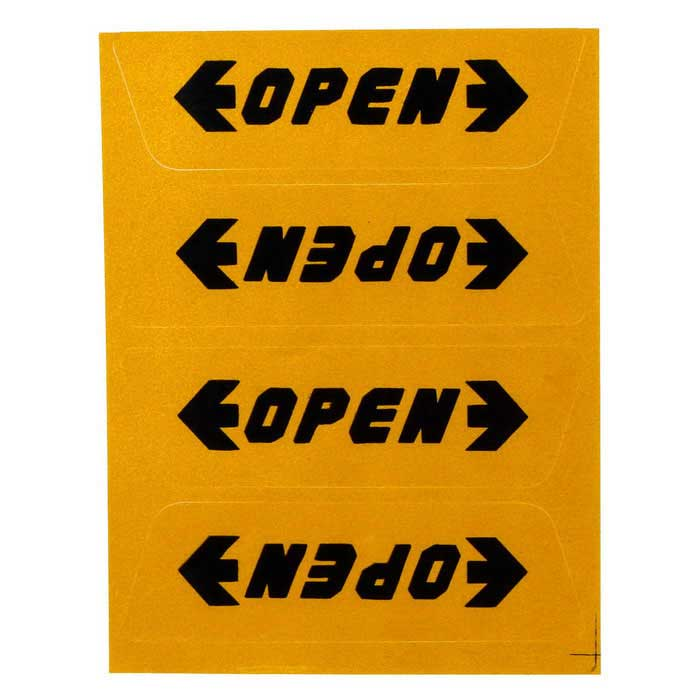 """OPEN"" Reflective Decoration Warning Sticker for Car - Yellow + Black"