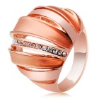 Interesting Spherical Design Crystal Ring for Women - Rose Gold (US Size 8)