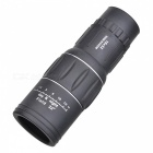 16x52 16X Magnification HD Monocular Telescope - Black