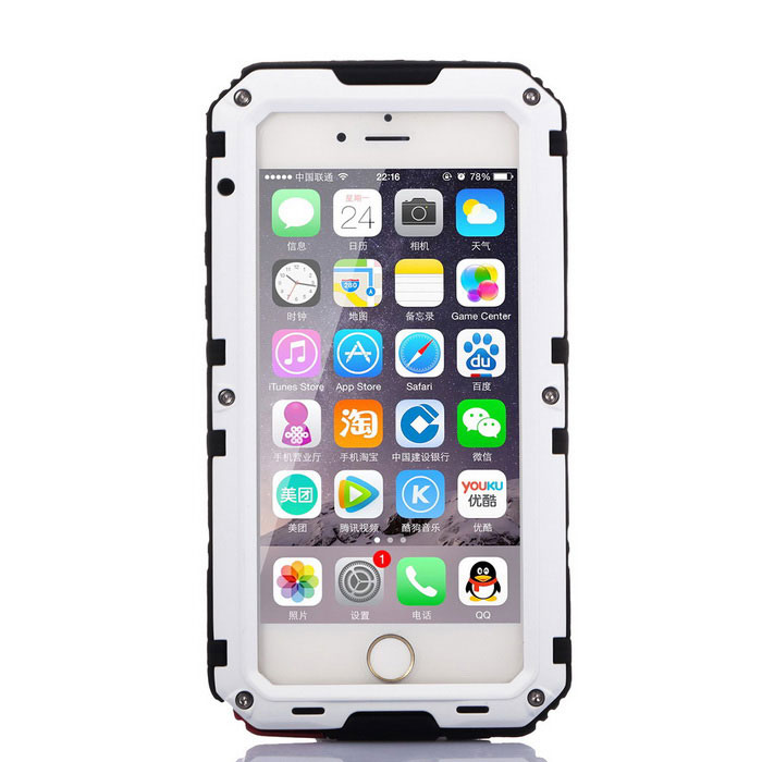 Underwater Photography Full Body Case for IPHONE 6 / 6S - White