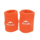 NatureHike Breathable Cotton Fitness Running Sports Wrist Bands Supports Bracers - Orange (2 PCS)