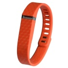 3D Stereo Texture Silicone Wristband for Fitbit Flex - Reddish Orange