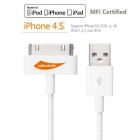 Yellowknife MFi 30Pin to USB Data Sync & Charging Cable for IPHONE / IPAD / IPOD - White ( 1m)