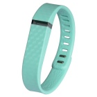 3D Stereo Texture Replacement Silicone Wristband for Fitbit Flex - Bluish Green (161~209cm)