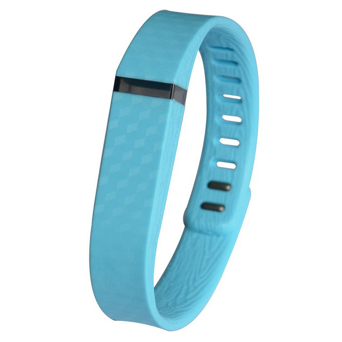 3D Stereo Texture Silicone Wristband for Fitbit Flex - Light Blue