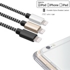 CARVE 8pin Lightning to USB Cable - Gold + Silver + Black (1.2m, 3PCS)