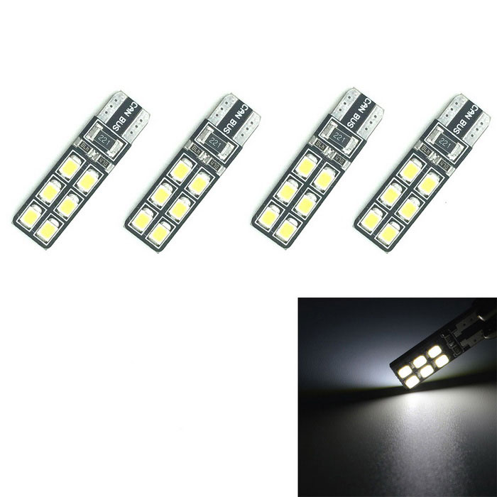3W Decodierung LED-Auto-Abstands-Lampen weißes 6000K 200lm 12-SMD (4PCS)