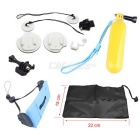 Surfboard Mount Set + Floating Grip + Wrist Strap + More for Gopro Hero Series - White + Yellow
