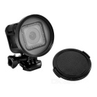58mm Camera Lens Filter w/ Lens Cap for GoPro Hero 4 Session - Black