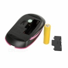 2.4GHz Wireless 1000~1600dpi Mouse w/ USB Receiver - Dark Pink + Black