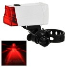 2-Mode Red Light LED Bike Taillight / Warning Light - White (2 x AAA)