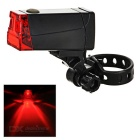 2-Mode Red Light LED Bike Taillight / Warning Light - Black (2 x AAA)
