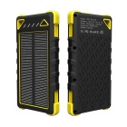 Universal 30000mAh Dual USB Solar Power Bank for IPHONE 5S / IPHONE 6 / IPHONE 6 PLUS + More -Yellow