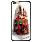 European Architectural Style Protective TPU Back Case for IPHONE 6 / 6S - White + Red + Multicolor