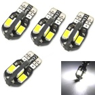 T10 3W 300lm 8x5630SMD LED Car Clearance Lamp White Light Decoding CANBUS Error-Free (DC 12V, 4PCS)